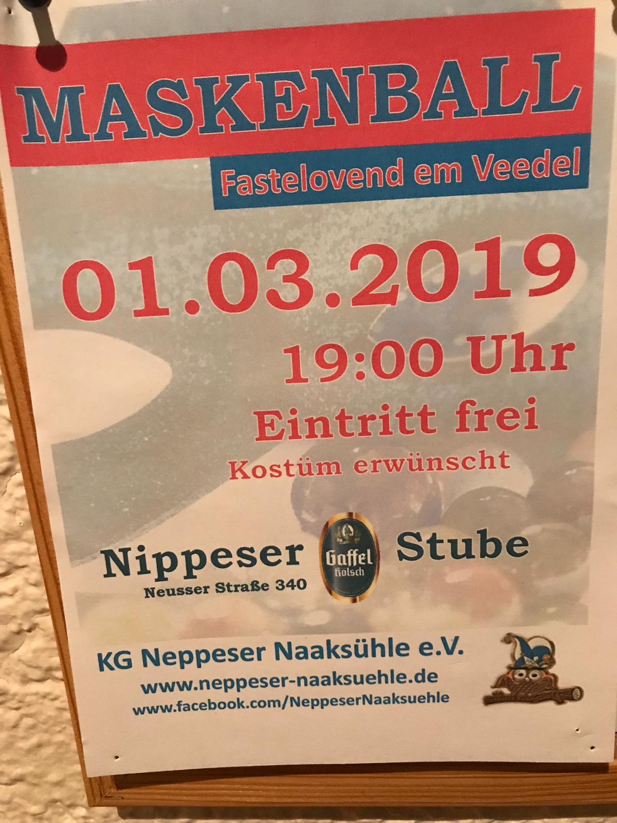 01.03.19 Maskenball – Fasteloven em Veedel